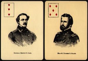Civil War playing cards, Robert E. Lee, U.S. Grant