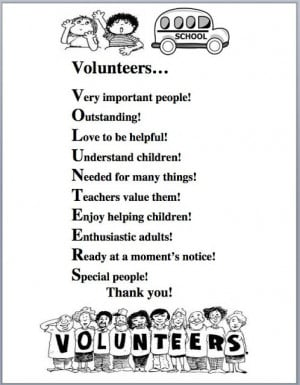 Volunteer Appreciation Thank You Poems
