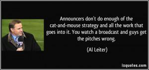 More Al Leiter Quotes