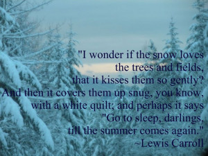 Lewis Carroll snow quote