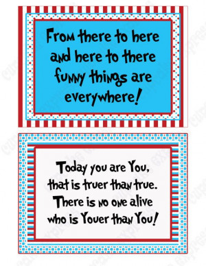 DIY 20 Dr. Seuss Inspired Quote Signs by CupcakeExpress2 on Etsy, $7 ...