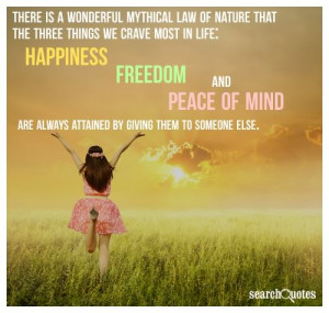 happiness freedom and peace of mind
