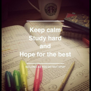 Study Hard Quotes Saying To work a little harder!