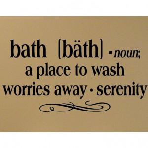 Bath definition vinyl decal Bathroom Wall by madebytheresarenee, $9.99 ...