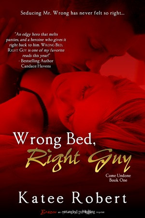 Review & Author Interview} Wrong Bed, Right Guy by Katee Robert