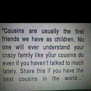 love my cousins and our crazy family!
