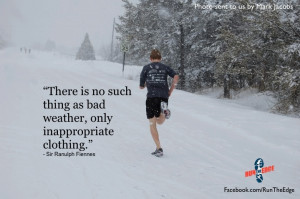Running in the snow...need proper gear