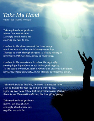 Quotes & Sayings: Take My Hand...