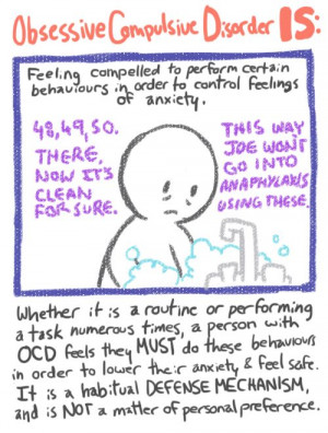 A definition and symptoms of the obsessive compulsive disorder