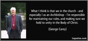 More George Carey Quotes