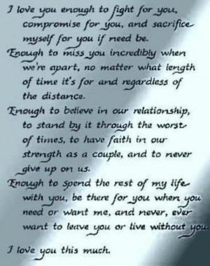 perfect wedding vow, I must say