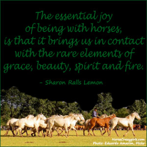 Horse Quote by Sharon Ralls Lemon