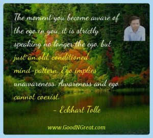 ... of the ego in you it is strictly speaking no longer the ego but just