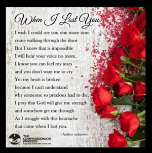 When I lost you quote