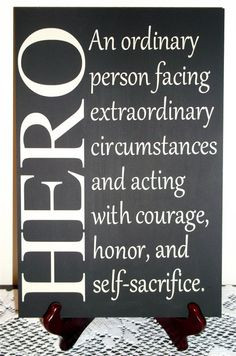 Hero an ordinary person facing extraordinary circumstances community ...
