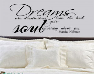 Bedroom Decal Dreams Quote Vinyl Wall Decal Medium Size