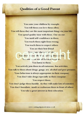 quote for a good parent, good mother, good father. This quote ...