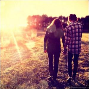 couple, holding-hand, cute, sun