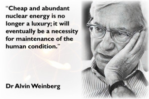 Learn more about the life and vision of Alvin Weinberg