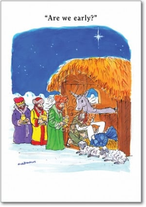 Wise Men Early Funny Pic Christmas Card Nobleworks
