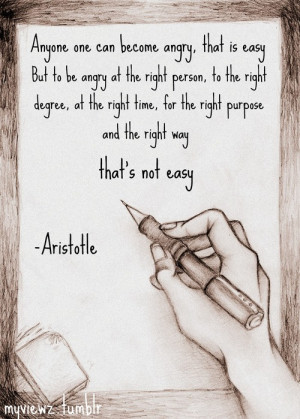 aristotle # aristotle quote # poet # angry # anger # being angry ...