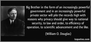 Big Brother in the form of an increasingly powerful government and in ...