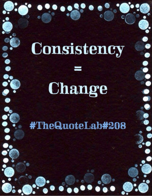 Consistency = Change ♕Random Quote 208 #TheQuoteLab #analog # ...