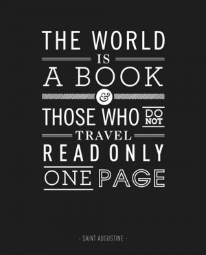 The Worlds A Book Motivational Typography Picture Quote