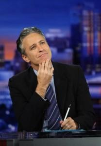 Two very different styles of news hosts—Jon Stewart and Lou Dobbs ...