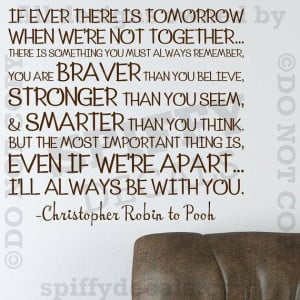 Winnie The Pooh Christopher Robin Quote Wall Decal
