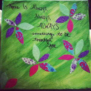 Fabric, paint, quote, & canvas