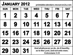 ... printable 2012 calendars and planners with quotes free printable 2012
