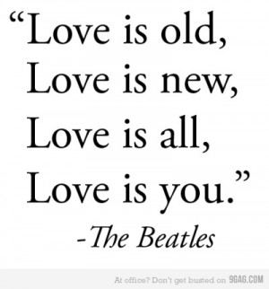 ... Love is new, Love is all, Love is you | The Beatles #Lyrics to Live By