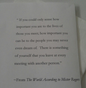 Mister Rogers quote