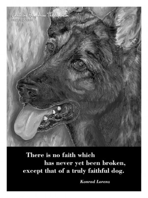 NEW Dog quote card: German Shepherd by iheartdogsstudio