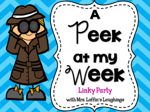 Thank for stopping by to check out A Peek at My Week, my weekly linky ...