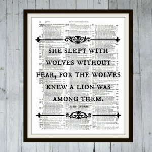 She slept with wolves without fear - R. M. Drake - Inspirational Quote ...