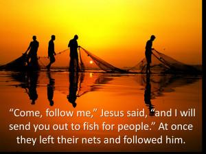"""Jesus said """"Followme"""""""