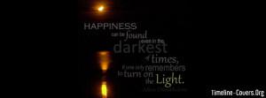 Dark Happiness Facebook Cover