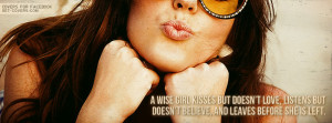 Wise Girl Kisses Facebook Cover
