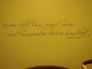 And last but not least, right above his crib....