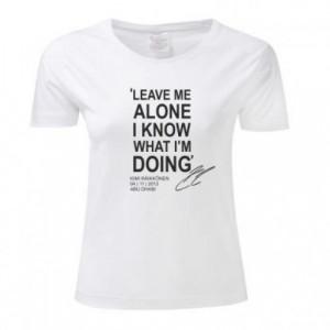 Kimi Raikkonen Quote 'Leave me alone' Women's T-Shirt