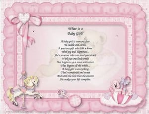 WHAT IS A BABY GIRL Poem Prayer Personalized Name Print