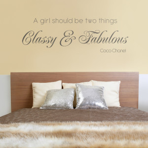 Home » Quotes » Classy & Fabulous - Quote - Wall Decals