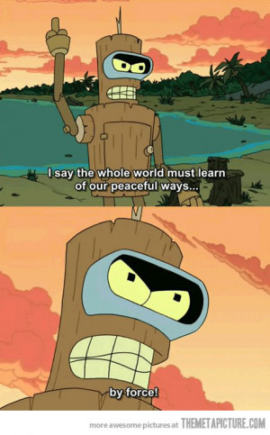 funny Beer brewing Bender Futurama