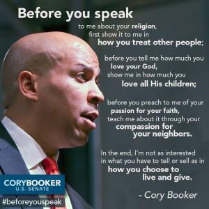 Before you speak.....Cory Booker