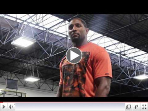 Ray Lewis inspirational talk to a group of young basketball players ...