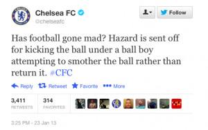 Hazard Gets A Red Card For Kicking A Ball Boy - Business Insider