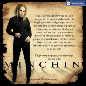 minchin atheist quotes