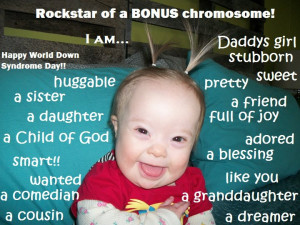 Down Syndrome Quotes Kids To have down syndrome.